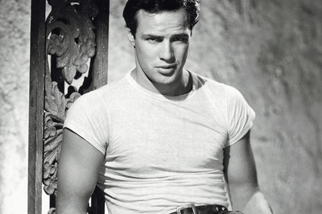 Marlon Brando en T-shirt blanc